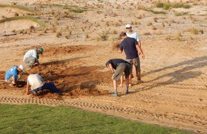 olympics-golf-crew-pulls-weeds-by-hand-082016